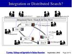 integration or distributed search