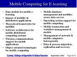 mobile computing for e learning