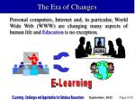 the era of changes