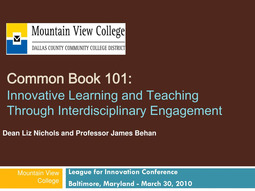common book 101 innovative learning and teaching through interdisciplinary engagement l.