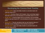 developing the common book timeline