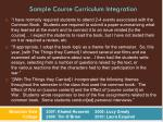 sample course curriculum integration