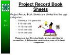 project record book sheets
