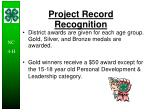 project record recognition