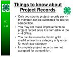 things to know about project records25