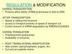 regulation modification