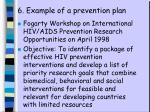 6 example of a prevention plan