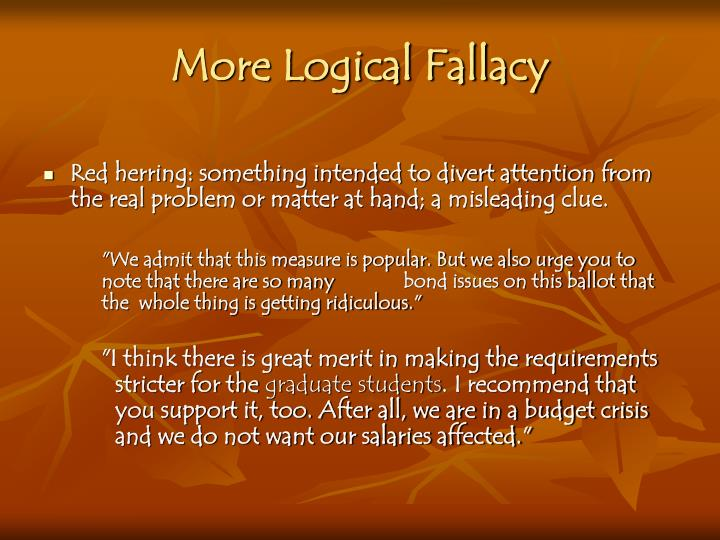 More Logical Fallacy
