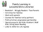 family learning in leicestershire libraries