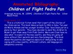 annotated bibliography children of flight pedro pan