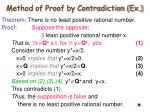 method of proof by contradiction ex