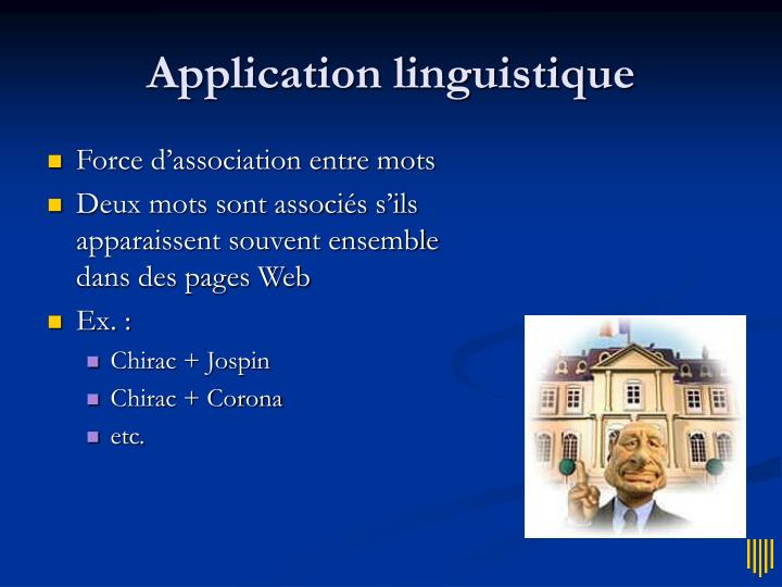 Application linguistique