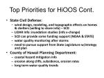 top priorities for hioos cont