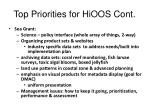 top priorities for hioos cont6