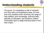 understanding students