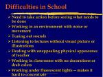 difficulties in school