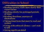 difficulties in school17