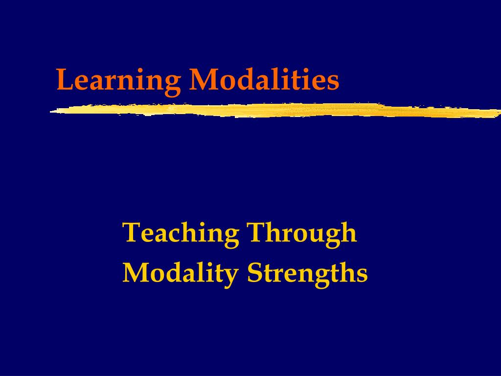 learning modalities l.