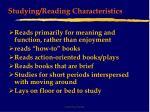studying reading characteristics24
