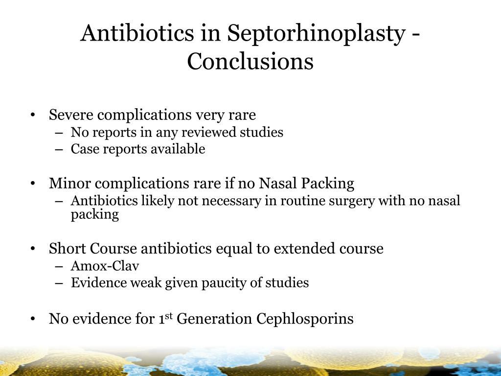 Antibiotics in Septorhinoplasty -