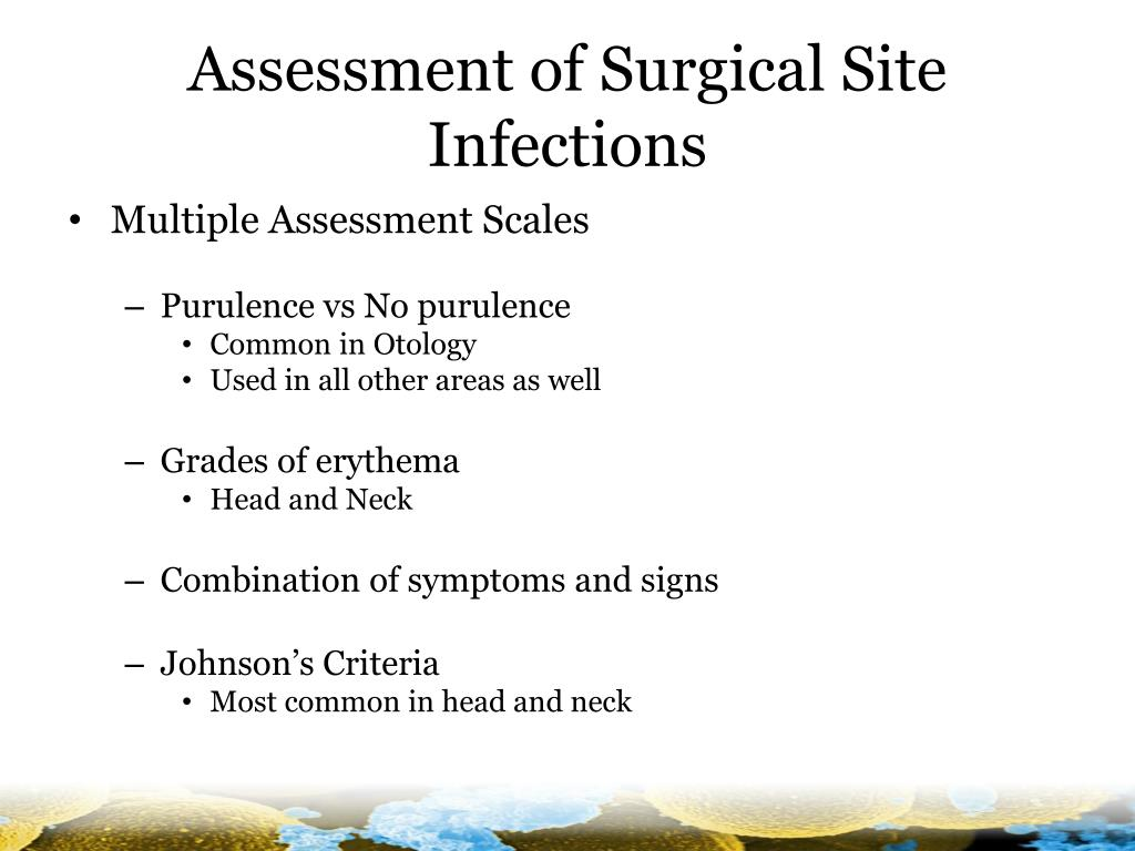 Assessment of Surgical Site Infections