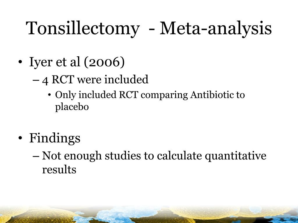 Tonsillectomy  - Meta-analysis
