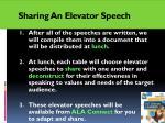 sharing an elevator speech