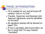 travel authorization