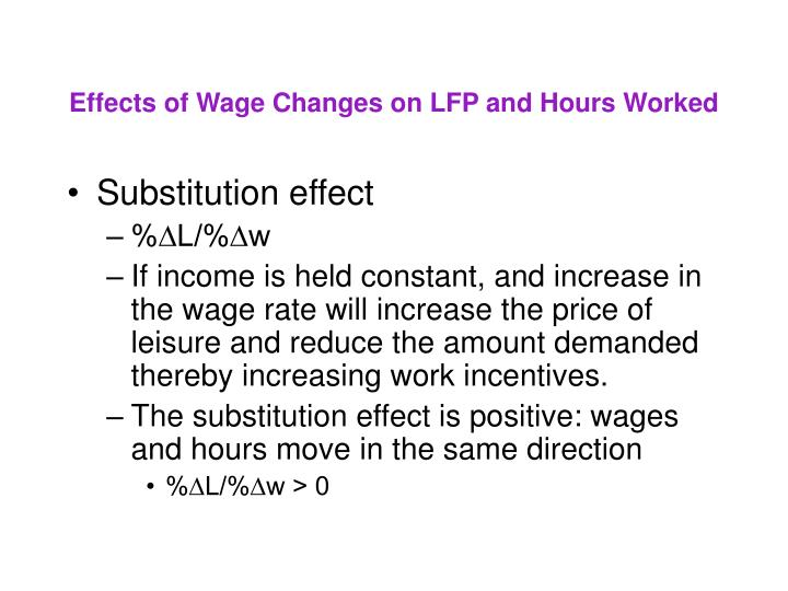 Effects of Wage Changes on LFP and Hours Worked