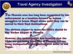 travel agency investigation
