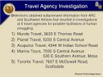travel agency investigation13