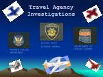 travel agency investigations