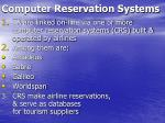 computer reservation systems