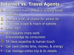 internet vs travel agents