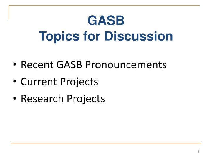 gasb topics for discussion n.