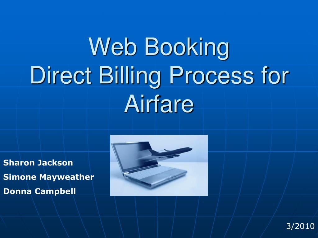 gt travel web booking direct billing process for airfare l.