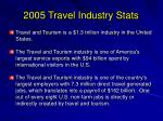 2005 travel industry stats