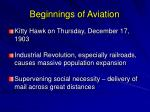 beginnings of aviation