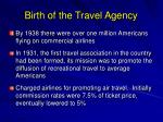birth of the travel agency