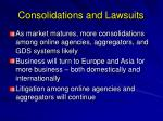 consolidations and lawsuits