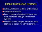 global distribution systems
