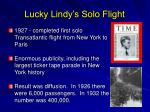 lucky lindy s solo flight
