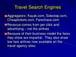 travel search engines