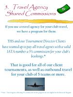 3 travel agency shared commissions