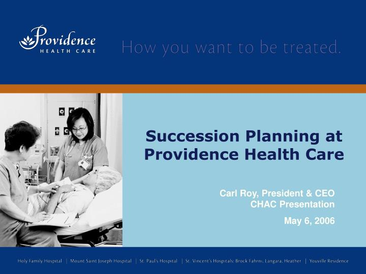 succession planning at providence health care n.