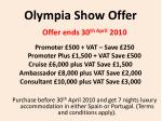 olympia show offer
