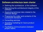 software architecture team charter