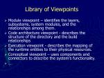 library of viewpoints