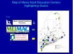 map of maine adult education centers highlighting grants