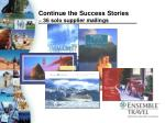 continue the success stories 36 solo supplier mailings